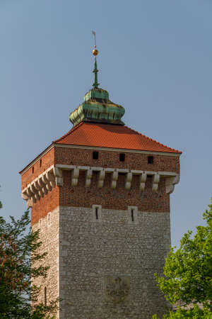 Florianska gate in Krakow