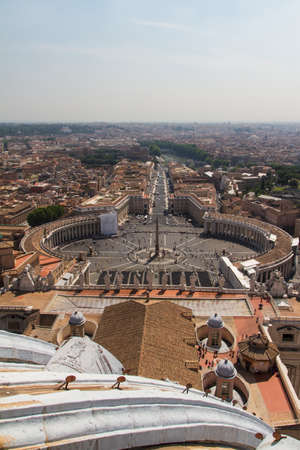 St. Peters Square from Rome in Vatican State photo