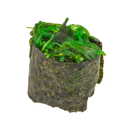 Japanese fresh maki sushi with green seaweed Chuka photo