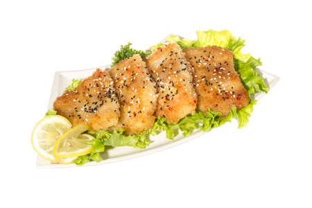 Roasted fish with lemon Stock Photo - 14364060