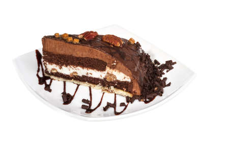 Piece of chocolate cake photo