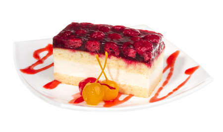 raspberry cake Stock Photo - 14364075