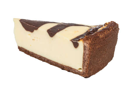 cheesecake with chocolate sauce photo