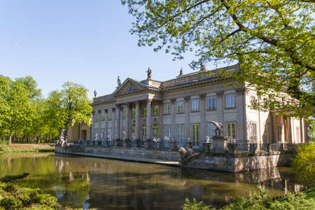 lazienki: The Lazienki palace in Lazienki Park, Warsaw. Lazienki Krolewskie. Editorial