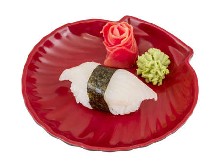 White fish sushi photo