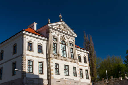 Museum of Frederick Chopin. Baroque palace in Warsaw.. Famous Dutch architect Tylman van Gameren. photo