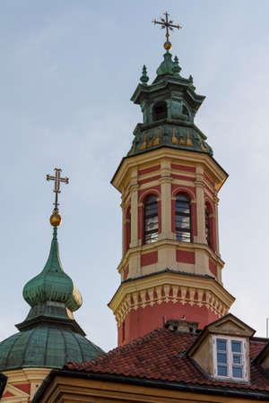 City center of Warsaw, Poland photo