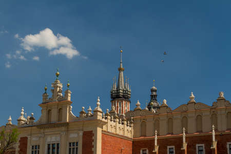 Sukiennice building in Krakow, Poland photo