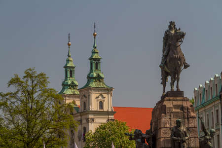 Battle of Grunwald monument In Old Town in Krakow photo