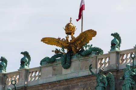 Heldenplatz in the Hofburg complex, Vienna, Austria photo