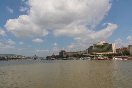 Budapest city panorama with the river Danube