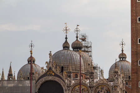 Saint Marks Basilica, Cathedral, Church Statues Mosaics Details Doge's Palace Venice Italy Stock Photo - 14427939