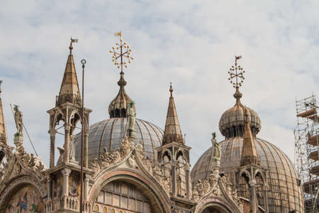 Saint Marks Basilica, Cathedral, Church Statues Mosaics Details Doge's Palace Venice Italy Stock Photo - 14427683