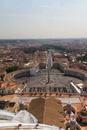 caput: St. Peters Square from Rome in Vatican State Editorial