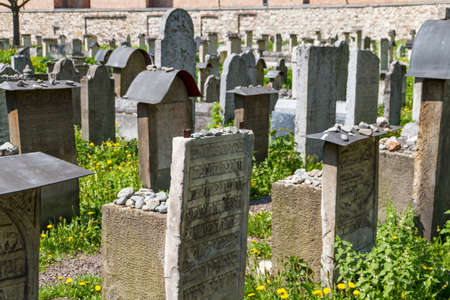 The Remuh Cemetery in Krakow, Poland, is a Jewish cemetery established in 1535. It is located beside the Remuh Synagogue Stock Photo - 14592787