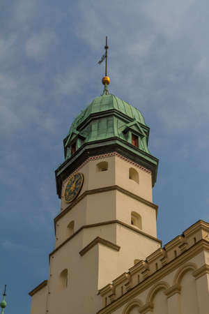 polska monument: The 15th-century Town Hall amid Kazimierzs Plac Wolnica central square