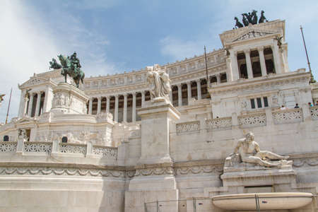 emmanuel: Equestrian monument to Victor Emmanuel II near Vittoriano at day in Rome, Italy