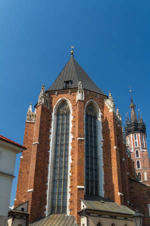 St. Marys Basilica in Krakow, Poland photo