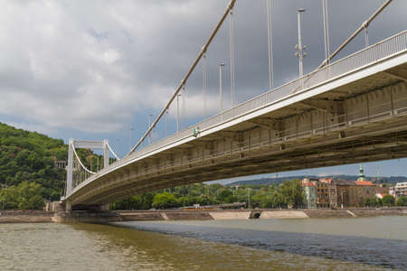 straddle: Bridge in Budapest, Hungary