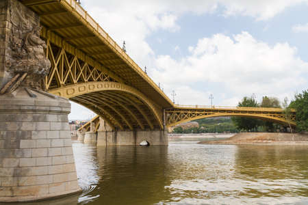 Scenic view of the recently renewed Margit bridge in Budapest. Stock Photo - 14713585