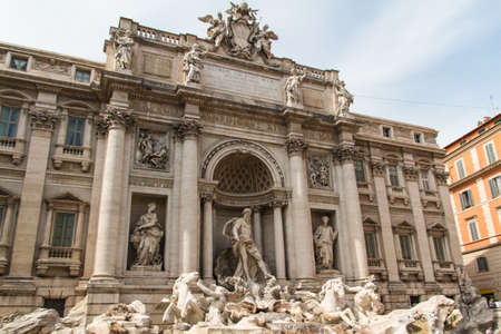 Fountain di Trevi - most famous Romes fountains in the world. Italy. photo