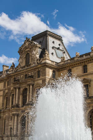 consistently: PARIS - JUNY 7: Louvre building on Juny 7, 2012 in Louvre Museum, Paris, France. With 8.5m annual visitors, Louvre is consistently the most visited museum worldwide.