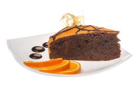 afters: Slice of chocolate cake