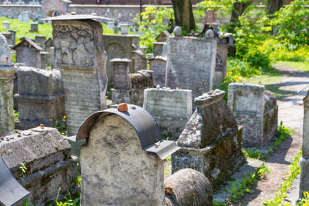 judaical: The Remuh Cemetery in Krakow, Poland, is a Jewish cemetery established in 1535. It is located beside the Remuh Synagogue