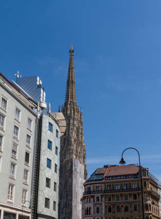 St. Stephan cathedral in center of Vienna, Austria photo
