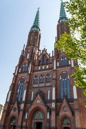 Saint Florian's Cathedral in Warsaw, Poland photo