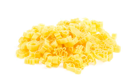 Raw yellow Italian pasta photo