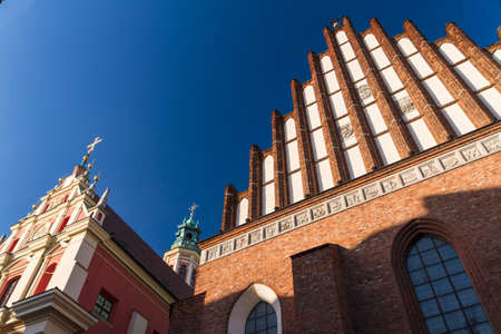 martyrdom: Gothic style Archcathedral Basilica of the Martyrdom of St. John the Baptist in Warsaw Old Town, Poland