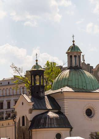 in copula: st. James Church on Main Square in Cracow, Poland Stock Photo