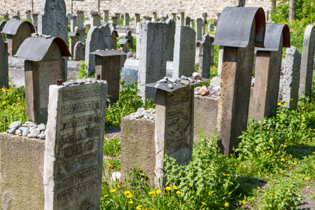 The Remuh Cemetery in Krakow, Poland, is a Jewish cemetery established in 1535. It is located beside the Remuh Synagogue