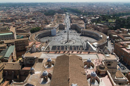 St. Peters Square from Rome in Vatican State