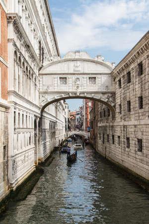 glimpse: The bridge of sighs - Venice Stock Photo