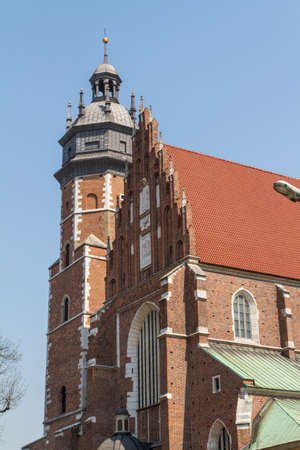 kroke: Cracow - Corpus Christi Church was founded by Kasimirus III The Great about 1340 Stock Photo