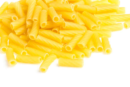 macro closeup of penne pasta background texture Stock Photo - 15601989