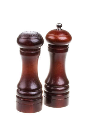 Salt and pepper shakers isolated on the white background Stock Photo - 15601673