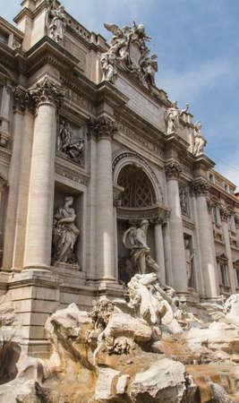 bernini: Fountain di Trevi - most famous Romes fountains in the world. Italy. Stock Photo