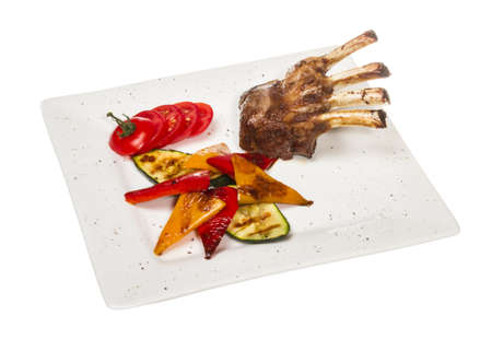 entree: Gourmet Main Entree Course Grilled Lamb steak