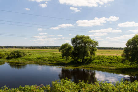 European Summer River Landscape (Russia) photo