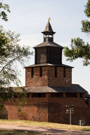 Kremlin wall at Nizhny Novgorod in summer. Russia Stock Photo - 16106081