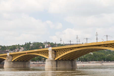 Scenic view of the recently renewed Margit bridge in Budapest. Stock Photo - 16102967