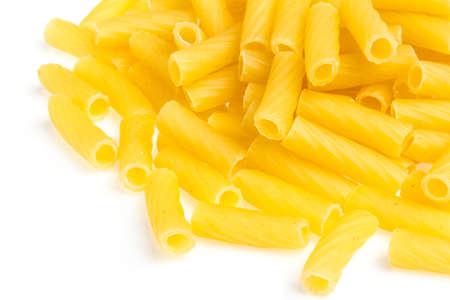 macro closeup of penne pasta background texture Stock Photo - 16101234