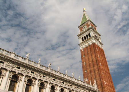 St Mark's Campanile - Campanile di San Marco in Italian, the bell tower of St Mark's Basilica in Venice, Italy. photo