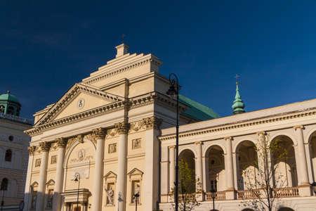anne: Warsaw, Poland. Saint Anne neoclassical church in Old Town quarter.  Stock Photo