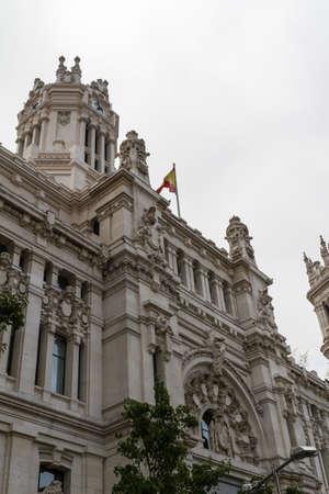 palacio de comunicaciones: Plaza de Cibeles, Madrid, Spain