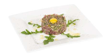 steak tartare with egg Stock Photo - 16593116