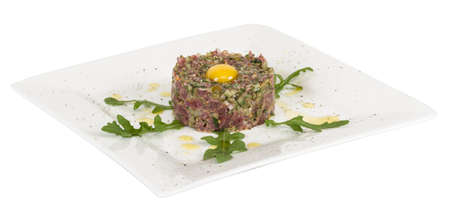 steak tartare with egg Stock Photo - 16593073